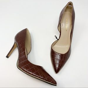 New marc fisher darlina Croc Embossed D'Orsay Pump